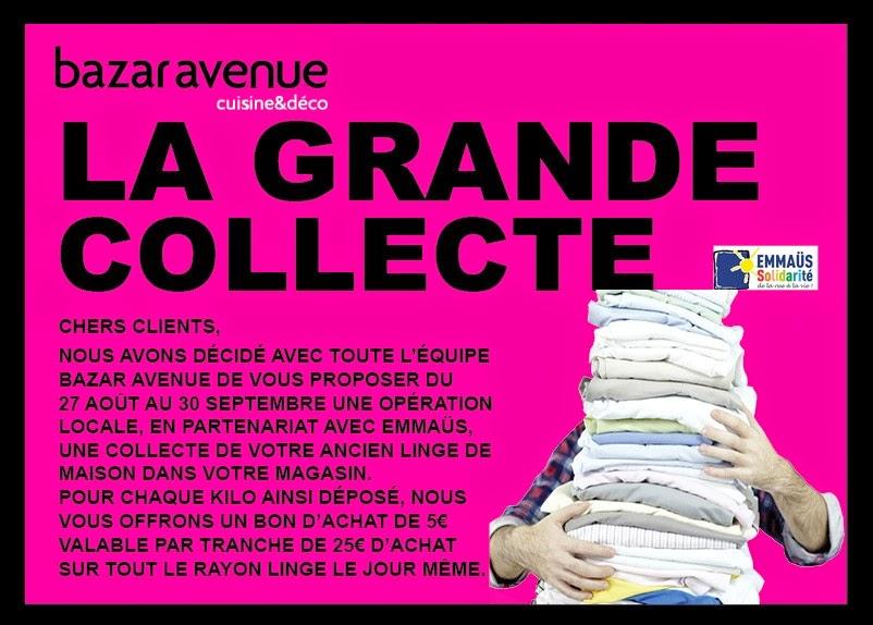 La grande collecte de bazar avenue bazar avenue le blog - Confederation des arts de la table ...