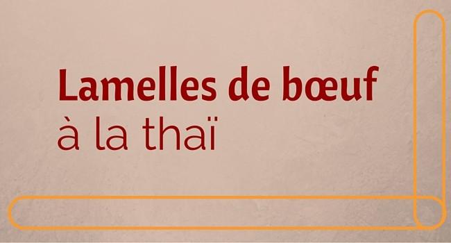Lamelles de bœuf à la thaï