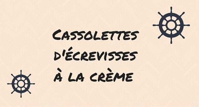 Cassolettes d'écrevisses a la crème