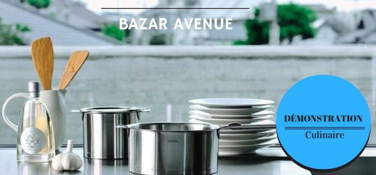 Démonstrations Culinaires Cristel & Bazar Avenue