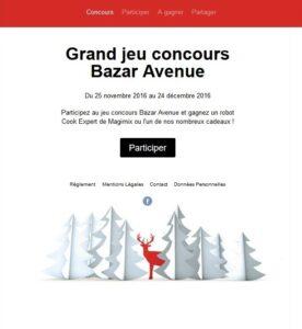 Les résultats du jeu concours Bazar Avenue